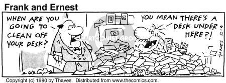 Comic Strip Bob Thaves Tom Thaves  Frank and Ernest 1990-10-04 employee