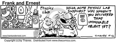 Comic Strip Bob Thaves Tom Thaves  Frank and Ernest 1990-10-12 displace