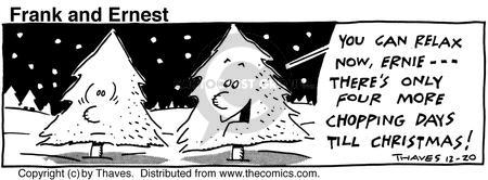 Comic Strip Bob Thaves Tom Thaves  Frank and Ernest 1990-12-20 pine