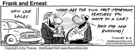 Cartoonist Bob Thaves Tom Thaves  Frank and Ernest 1991-04-02 money