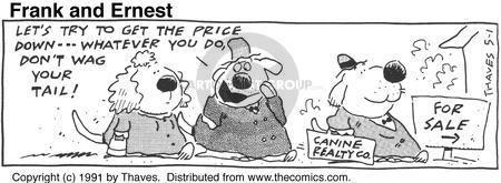 Comic Strip Bob Thaves Tom Thaves  Frank and Ernest 1991-05-01 price