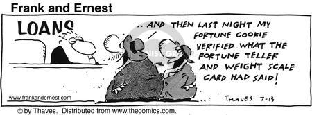 Comic Strip Bob Thaves Tom Thaves  Frank and Ernest 1991-07-13 finance