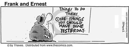 Comic Strip Bob Thaves Tom Thaves  Frank and Ernest 1991-08-09 organization