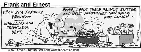Cartoonist Bob Thaves Tom Thaves  Frank and Ernest 1991-08-19 peanut