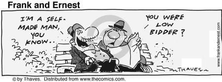 Comic Strip Bob Thaves Tom Thaves  Frank and Ernest 1991-08-27 employment work