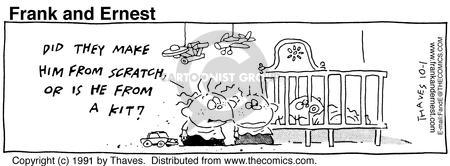 Cartoonist Bob Thaves Tom Thaves  Frank and Ernest 1991-10-01 biology