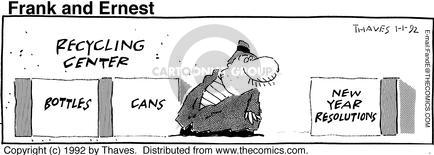 Comic Strip Bob Thaves Tom Thaves  Frank and Ernest 1992-01-01 intention
