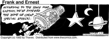 Cartoonist Bob Thaves Tom Thaves  Frank and Ernest 1992-01-07 captain
