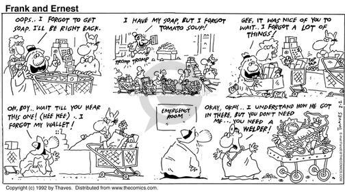 Comic Strip Bob Thaves Tom Thaves  Frank and Ernest 1992-02-02 wait