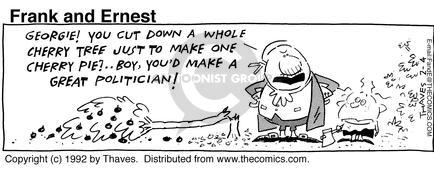 Comic Strip Bob Thaves Tom Thaves  Frank and Ernest 1992-02-04 fall down