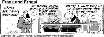 Comic Strip Bob Thaves Tom Thaves  Frank and Ernest 1992-02-11 employee