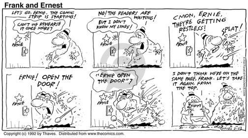 Comic Strip Bob Thaves Tom Thaves  Frank and Ernest 1992-02-23 wait