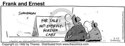 Comic Strip Bob Thaves Tom Thaves  Frank and Ernest 1992-02-27 sale