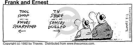 Cartoonist Bob Thaves Tom Thaves  Frank and Ernest 1992-03-02 sharp