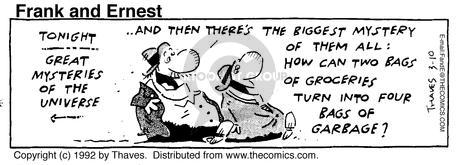 Comic Strip Bob Thaves Tom Thaves  Frank and Ernest 1992-03-10 class