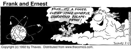 Comic Strip Bob Thaves Tom Thaves  Frank and Ernest 1992-03-13 sky
