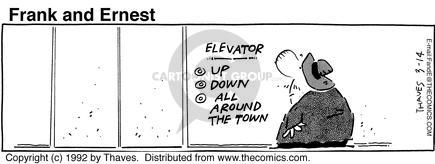 Comic Strip Bob Thaves Tom Thaves  Frank and Ernest 1992-03-14 sign