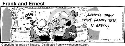 Comic Strip Bob Thaves Tom Thaves  Frank and Ernest 1992-03-17 green
