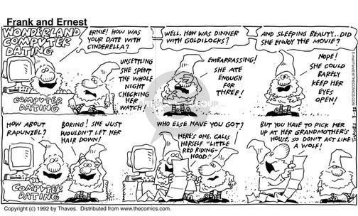 Comic Strip Bob Thaves Tom Thaves  Frank and Ernest 1992-03-22 computer