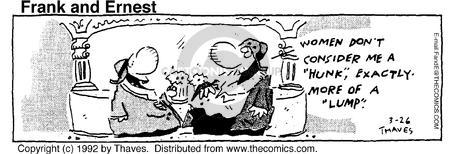 Comic Strip Bob Thaves Tom Thaves  Frank and Ernest 1992-03-26 shape