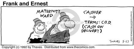 Comic Strip Bob Thaves Tom Thaves  Frank and Ernest 1992-03-27 cash