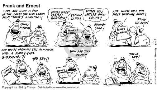 Comic Strip Bob Thaves Tom Thaves  Frank and Ernest 1992-03-29 drunk