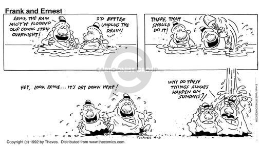 Comic Strip Bob Thaves Tom Thaves  Frank and Ernest 1992-04-05 overnight