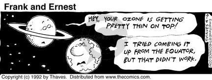Comic Strip Bob Thaves Tom Thaves  Frank and Ernest 1992-04-06 air