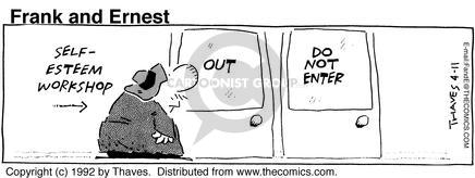 Comic Strip Bob Thaves Tom Thaves  Frank and Ernest 1992-04-11 effort