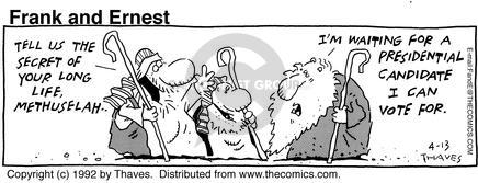 Comic Strip Bob Thaves Tom Thaves  Frank and Ernest 1992-04-13 candidate