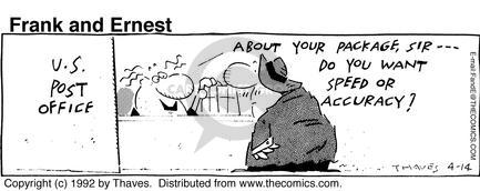 Comic Strip Bob Thaves Tom Thaves  Frank and Ernest 1992-04-14 employee