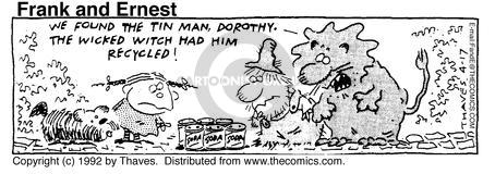 Comic Strip Bob Thaves Tom Thaves  Frank and Ernest 1992-04-17 wicked