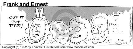 Cartoonist Bob Thaves Tom Thaves  Frank and Ernest 1992-04-21 teddy
