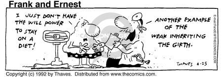 Comic Strip Bob Thaves Tom Thaves  Frank and Ernest 1992-04-25 weak