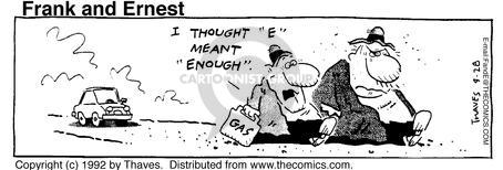 Cartoonist Bob Thaves Tom Thaves  Frank and Ernest 1992-04-28 highway to nowhere