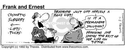 Comic Strip Bob Thaves Tom Thaves  Frank and Ernest 1992-05-01 tuck