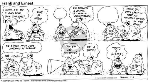 Comic Strip Bob Thaves Tom Thaves  Frank and Ernest 1992-05-03 concentrate