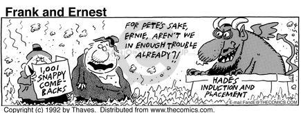 Comic Strip Bob Thaves Tom Thaves  Frank and Ernest 1992-05-04 underworld