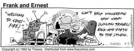 Comic Strip Bob Thaves Tom Thaves  Frank and Ernest 1992-05-07 abuse