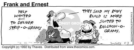 Comic Strip Bob Thaves Tom Thaves  Frank and Ernest 1992-05-09 help wanted