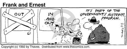 Comic Strip Bob Thaves Tom Thaves  Frank and Ernest 1992-05-13 economy