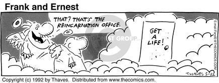 Cartoonist Bob Thaves Tom Thaves  Frank and Ernest 1992-05-22 sky