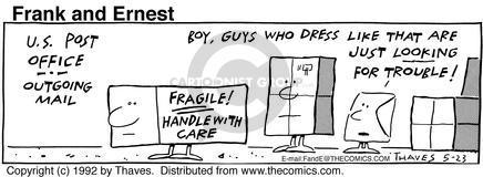 Comic Strip Bob Thaves Tom Thaves  Frank and Ernest 1992-05-23 fragile