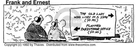 Comic Strip Bob Thaves Tom Thaves  Frank and Ernest 1992-05-26 contraception