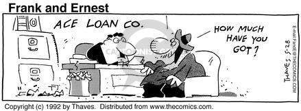 Comic Strip Bob Thaves Tom Thaves  Frank and Ernest 1992-05-28 personal finance