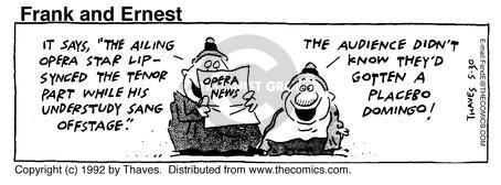 Comic Strip Bob Thaves Tom Thaves  Frank and Ernest 1992-05-30 culture