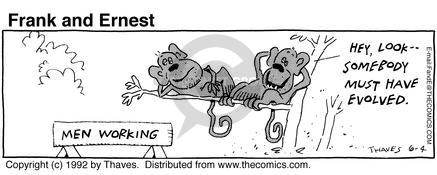 Comic Strip Bob Thaves Tom Thaves  Frank and Ernest 1992-06-04 jungle
