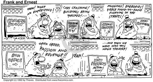 Cartoonist Bob Thaves Tom Thaves  Frank and Ernest 1992-06-07 city street