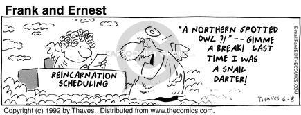 Cartoonist Bob Thaves Tom Thaves  Frank and Ernest 1992-06-08 sky