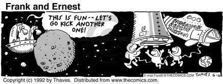 Cartoonist Bob Thaves Tom Thaves  Frank and Ernest 1992-06-10 sky